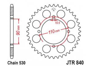 Rear sprocket Xs 400d 82-88