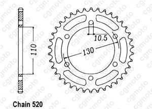 Rear sprocket Zr 550 Zephyr 90-98
