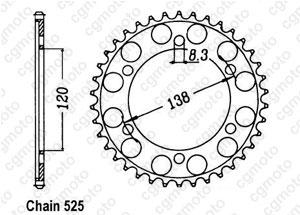 Rear sprocket Rc45 Rvf 750 R 94-98