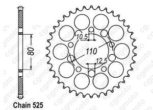 Rear sprocket Cb 750 Sevenfyfty 92-