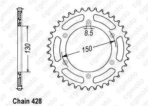 Rear sprocket Xlr 125 R 97-98
