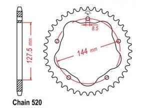 Rear sprocket Ducati