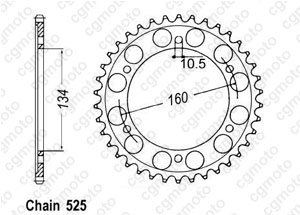 Rear sprocket Cbr 600 Rr 07