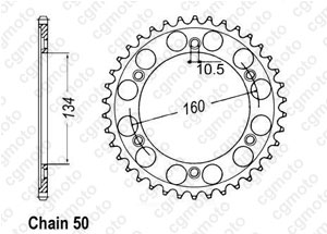 Rear sprocket Vtr 1000 Sp-1 00-01