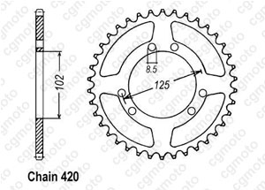 Rear sprocket Bultaco Lobito 50