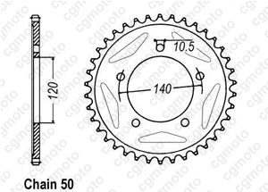 Rear sprocket Sv 1000 N / S 03-