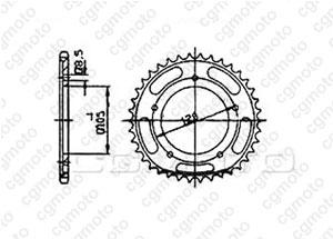 Rear sprocket Sachs 125 Zz 98-00