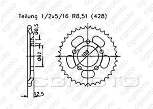 Rear sprocket Mz 125 Route 00-02