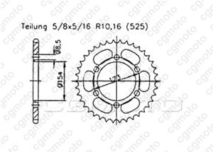 Rear sprocket Quad 50 Aeon Revo 00-