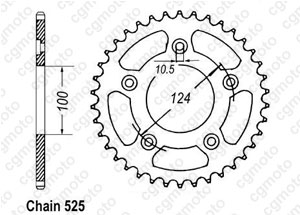 Rear sprocket Ducati 999 R/S 03-