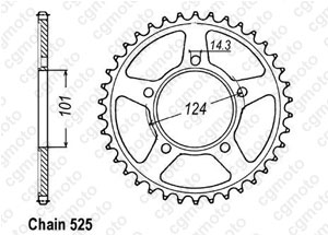 Rear sprocket Ktm 990 Duke
