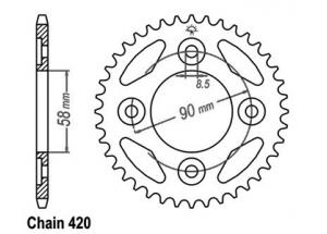 Rear sprocket Anf 125 Innova 03-