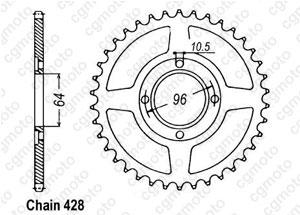 Rear sprocket Cg 125 E 04-
