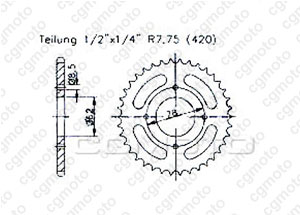 Rear sprocket Suzuki Lt-a 50 02-