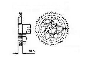 Rear sprocket Ducati 1098 R/S 07-