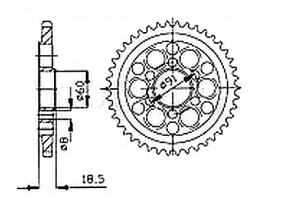 Rear sprocket Ducati 1098 R/S 07-