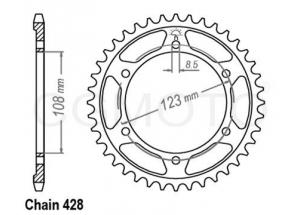 Rear sprocket RS4 125