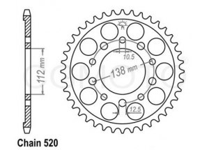 Rear sprocket Honda 700