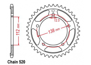 Rear sprocket Honda CB 500 F/X