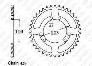 Rear sprocket Hrd 50