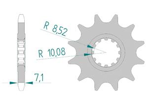 KIT STEEL APRILIA 50 RX 1999-2001 Reinforced O-ring