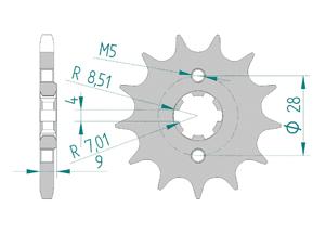 KIT STEEL APRILIA RS4 125 4T 2012-2013 MX Racing