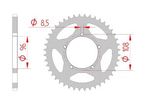 KIT STEEL APRILIA 125 TUAREG 86-88 Standard Xs-ring