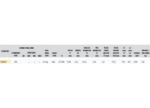 KIT STEEL APRILIA 125 PEGASO/RALLY 89-91 Standard Xs-ring