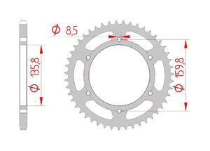 KIT STEEL APRILIA 6.5 MOTO STARCK 95-00