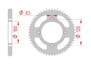 KIT STEEL BETA 50 RR SM #428 2012-2015 Reinforced Xs-ring