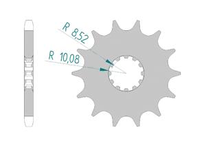 KIT STEEL BETA 50 RR 2005-2011 #428 4FIX