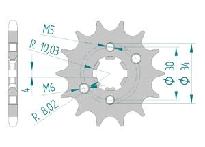 KIT STEEL BETA 125 RR MOTARD LC 2012-2015 Reinforced Xs-ring