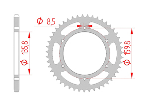 KIT STEEL BETA 350 JONATHAN 01-02 Reinforced Xs-ring