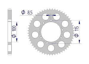 KIT ALU BETA 50 RR ALU 2003-2006 Reinforced Xs-ring