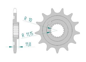 KIT STEEL SHERCO 250 SEF I 2014-2015 Standard Xs-ring