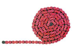 420 Hyper Reinforced 132 links - Red Fluo links
