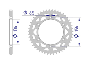 KIT ALU SHERCO SEF 250 I 2009-2011 Standard Xs-ring