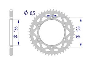 KIT ALU SHERCO SEF 250 I 2012-2013 Standard Xs-ring