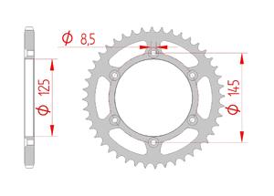 KIT STEEL CAGIVA 125 TAMANACO 88-91 Standard Xs-ring