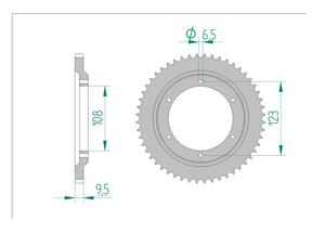KIT STEEL DERBI GPR 50 1998-2000 Reinforced O-ring