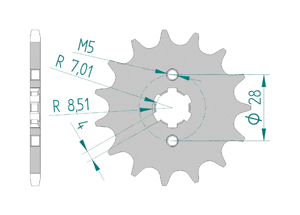 KIT STEEL DERBI 50 GPR RACING 2004-2005 Standard
