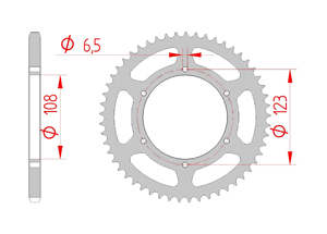 KIT STEEL DERBI 50 GPR 2010-2013 Standard