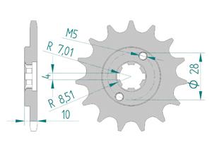 KIT STEEL DERBI SENDA 50 R / L 97-99