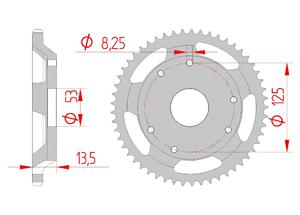 KIT STEEL DERBI 50 R CLASSIC 01 /RACER 02-03 MX Racing