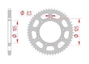 KIT STEEL DERBI 50 SM X'TREME 2006-2010 Reinforced O-ring