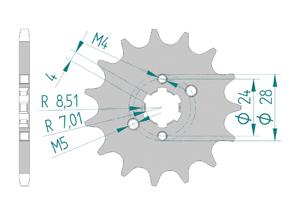 KIT STEEL DERBI 50 RACING SM LIMITED 07-08 Standard