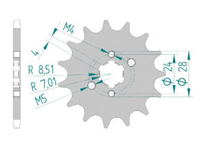 KIT STEEL DERBI 50 SM RACER 2002-2003 Standard