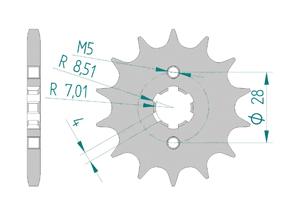KIT STEEL DERBI GPR 125 2009-2014 Reinforced