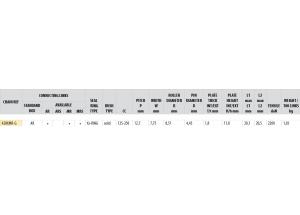 KIT STEEL DERBI 125 GPR 2004-2008
