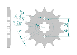 Front sprocket 428 Derbi